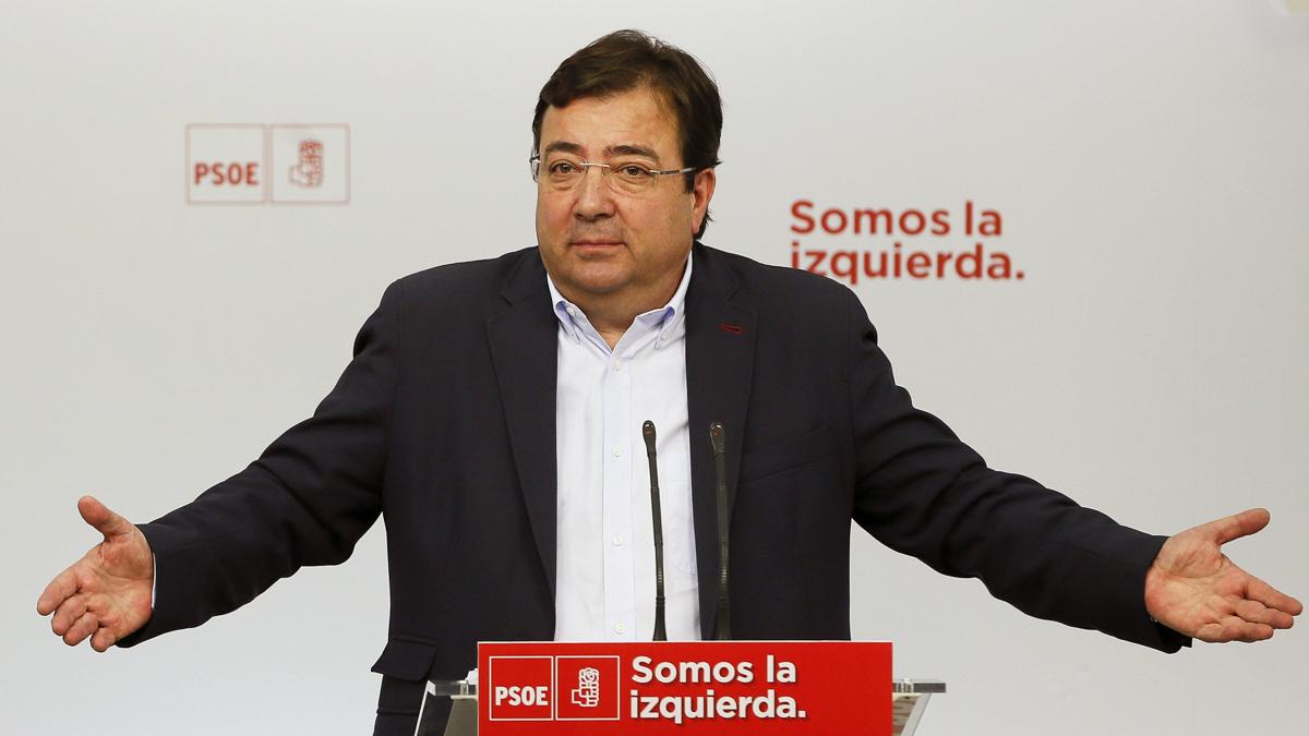 Guillermo Fernández Vara, presidente de la Junta de Extremadura. (Foto: EFE)