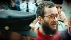 José Antonio Ortega Lara, en el momento de ser liberado, el 1 de julio de 1997.