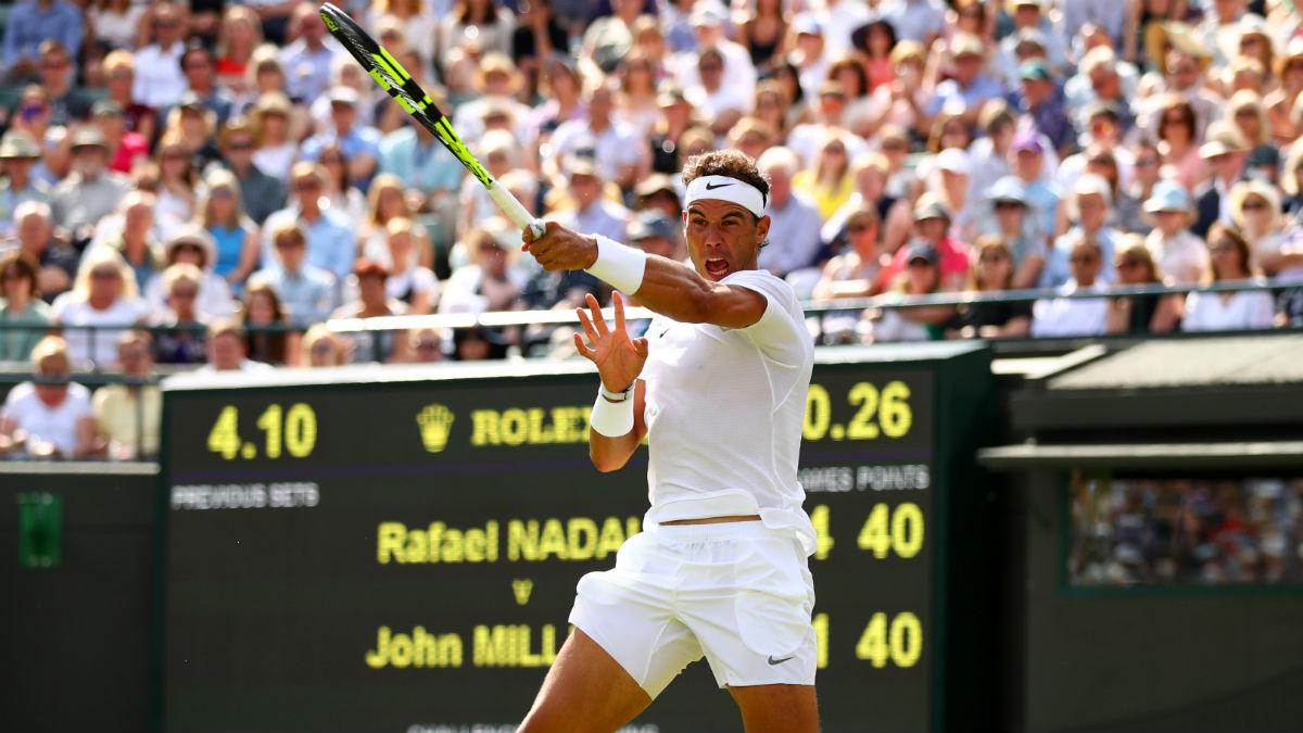 Rafa Nadal debuta con victoria en Wimbledon. (Getty)