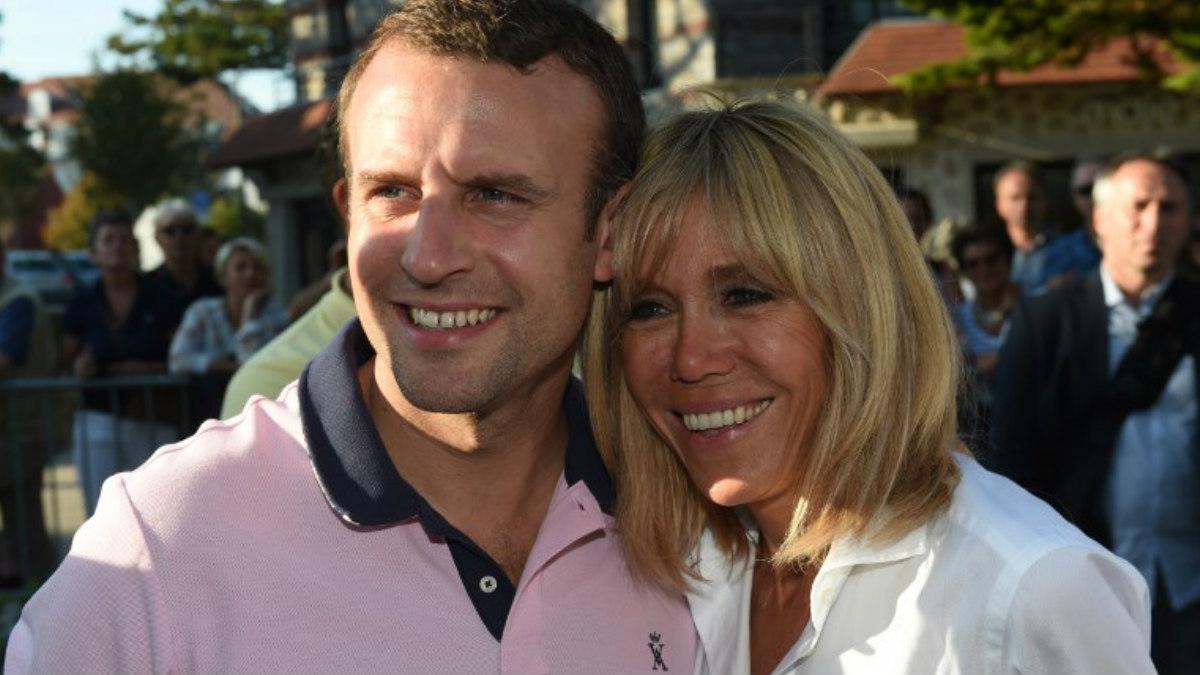 Brigitte Trogneux junto a su marido Emmanuel Macron, actual presidente de Francia. Foto: AFP