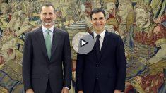 Felipe VI y Pedro Sánchez. (Foto: EFE)