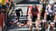 Accidentada llegada en la cuarta etapa del Tour de Francia. (AFP)