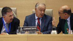 Eugenio Pino durante su comparecencia en la Comisión del Congreso. Foto: EFE