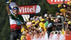 Fabio Aru ganó la quinta etapa del Tour. (AFP)