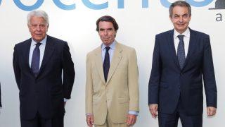 Felipe González, José María Aznar y José Luis Rodríguez Zapatero. (Foto: EFE)