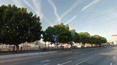Parking de la glorieta de España, en Murcia, escenario de los hechos.