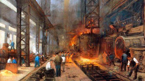 Las fábricas eran las nuevas granjas para los campesinos