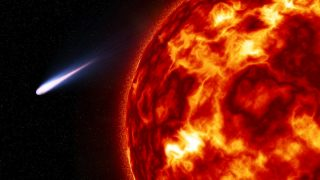 Los cometas pasan cerca del Sol