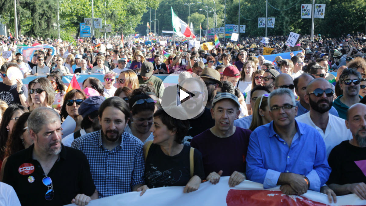 Pablo Iglesias y Lorena Ruiz-Huerta en el World Pride (Paco Toledo)