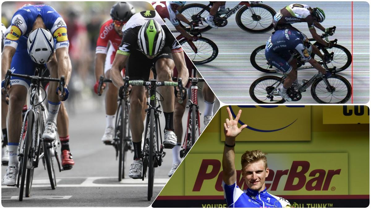 Marcel Kittel logró una de las victorias más ajustadas de la historia. (AFP)
