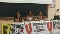 Mesa de ponentes Universidad de verano de Podemos