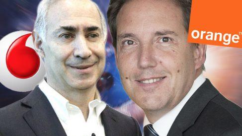 El CEO de Vodafone, Antonio Coimbra, y su homólogo en Orange, Laurent Paillassot.