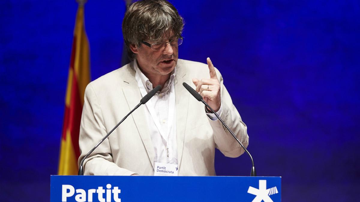 Carles Puigdemont, en el primer aniversario del PDeCAT. (EFE)