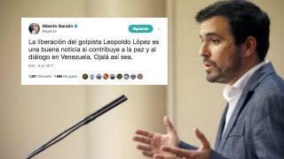 Alberto Garzón sobre Leopoldo López.