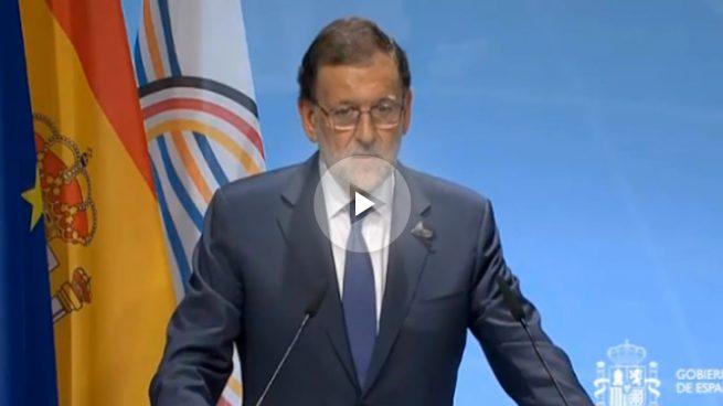Mariano Rajoy dirigiéndose a la prensa al término de la cumbre del G20 que se ha celebrado en Hamburgo (Alemania).
