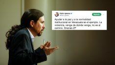 Pablo Iglesias comenta la excarcelación de Leopoldo López sin mencionarlo