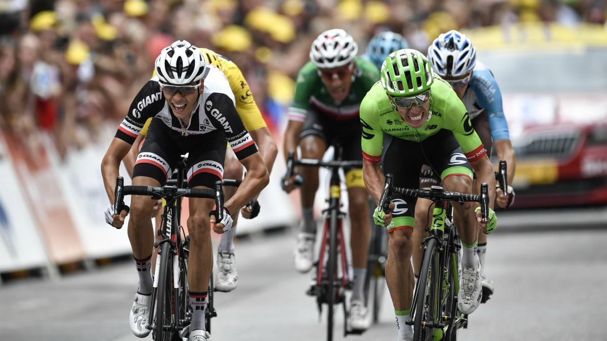 Uran y Barguil pelean por el triunfo final. (AFP)