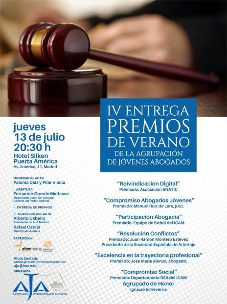 IV entrega de Premios de la Agrupación de Jóvenes Abogados de Madrid, AJA.