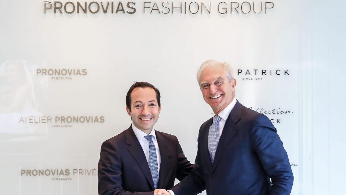 Alberto Palatchi, presidente de Pronovias y Jean-Baptiste Wautier, del BC Partners.