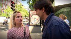Mitzy Ledezma responde a las preguntas de Cake Minuesa, en Madrid.