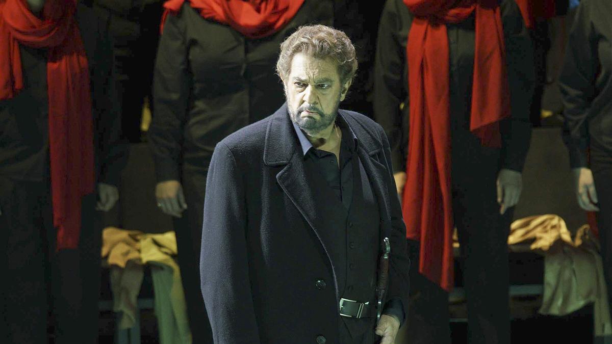 Plácido Domingo en 'Macbeth' en el Teatro Real. (Foto: EFE)