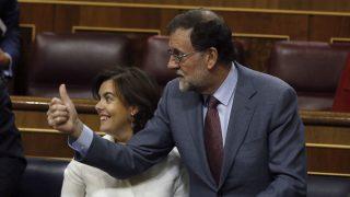Mariano Rajoy y Soraya Sáenz de Santamaría (Foto: EFE).