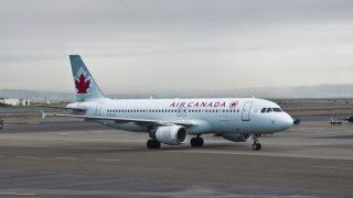Airbus A320 de Air Canada en San Francisco.