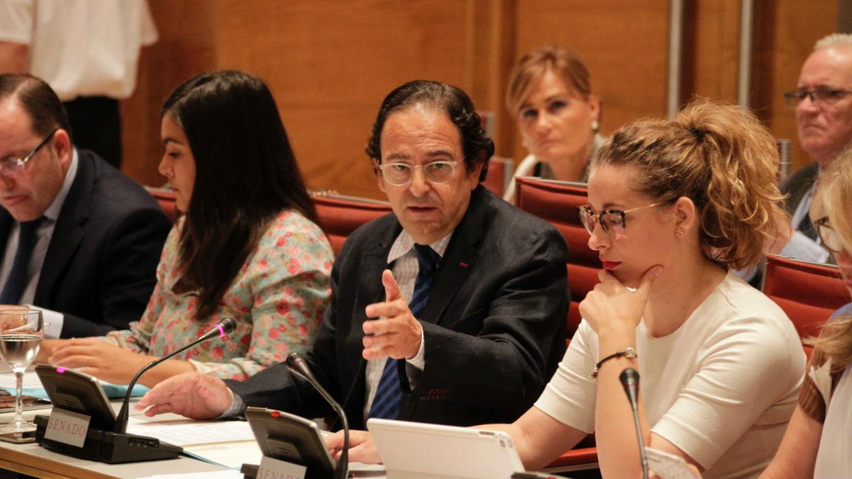 Luis Aznar Fernández, portavoz del PP en la Comisión en el Senado sobre la financiación de los partidos. Foto: Francisco Toledo