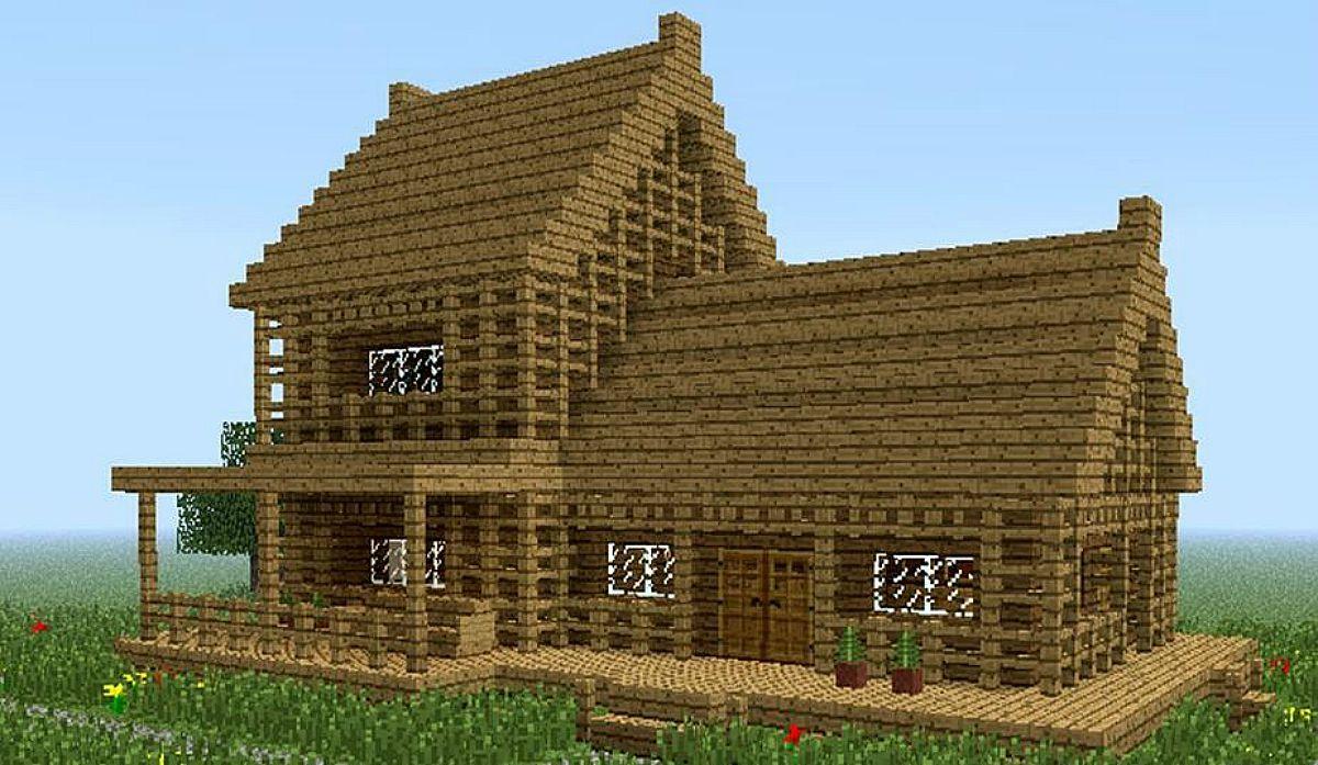 C mo hacer casas en minecraft paso a paso for Como hacer piscicultura en casa