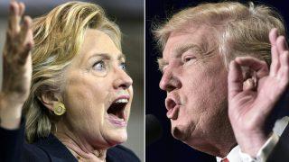 Hillary Clinton y Donald Trump. (Foto: AFP)