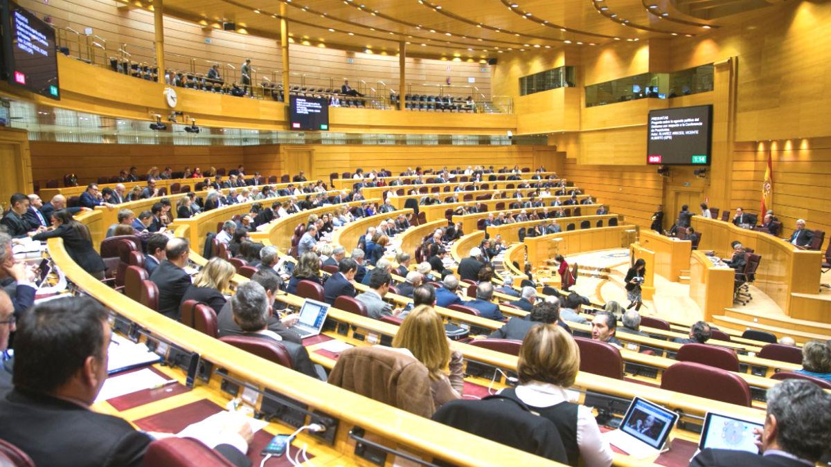 El Senado durante un Pleno. (Foto: Twitter)