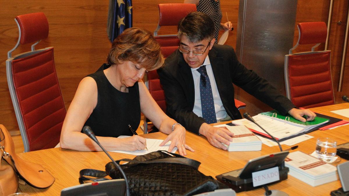 La presidenta de la Comisión en el Senado sobre la financiación de los partidos, Rosa Mindel. (Foto: Francisco Toledo)