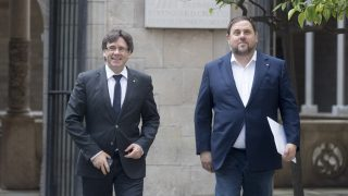 Carles Puigdemont y Oriol Junqueras.