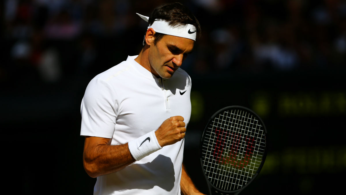 Federer se mete en la final de Wimbledon. (Getty)