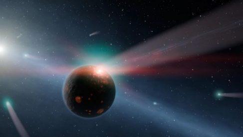 Los cometas son cuerpos sólidos.