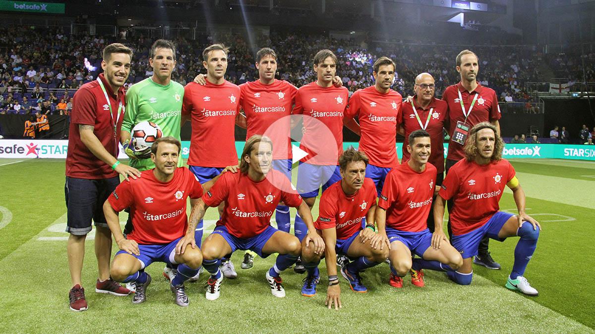 Selección española de leyendas. (Foto: Enrique Falcón)