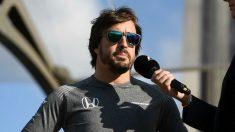 Fernando Alonso, en el circuito de Silverstone. (Getty)