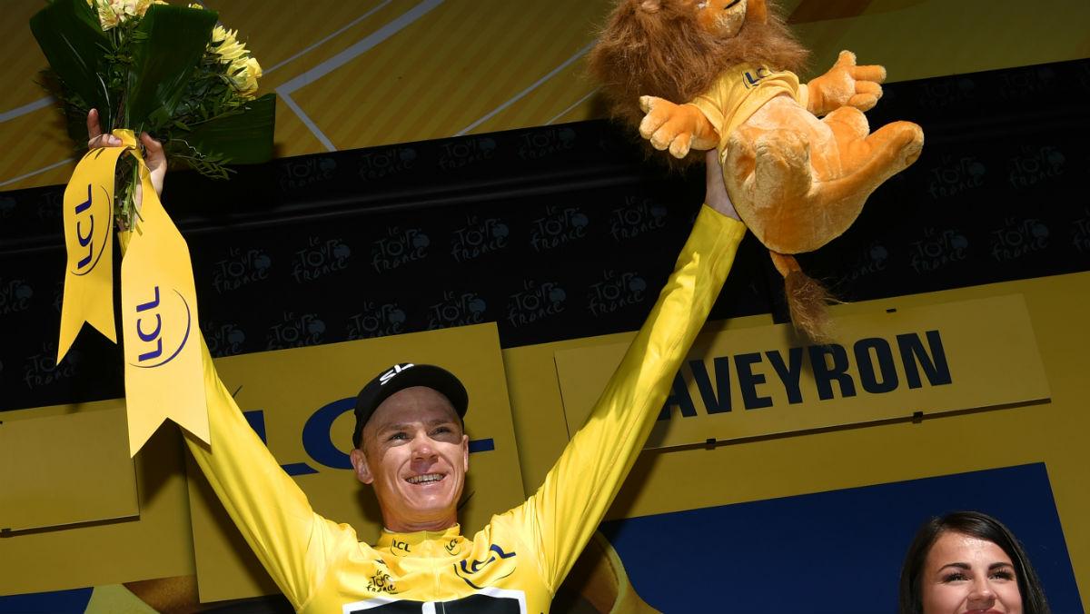 Froome recuperó el maillot amarillo. (AFP)