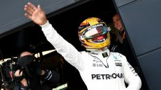 Lewis Hamilton hizo la pole en Silverstone. (AFP)