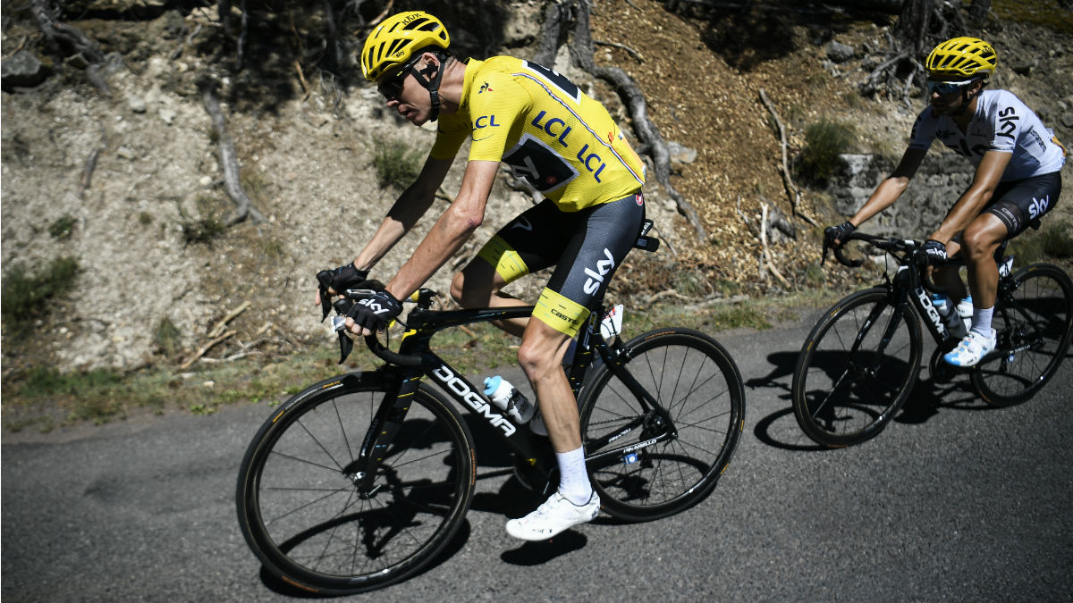 Mikel Landa salvó a Chris Froome de perder el maillot amarillo. (AFP)