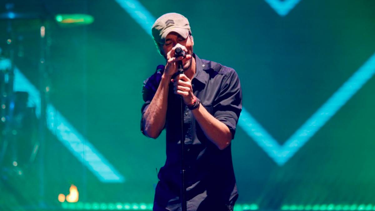 Enrique Iglesias durante su concierto en Santander Foto: Getty