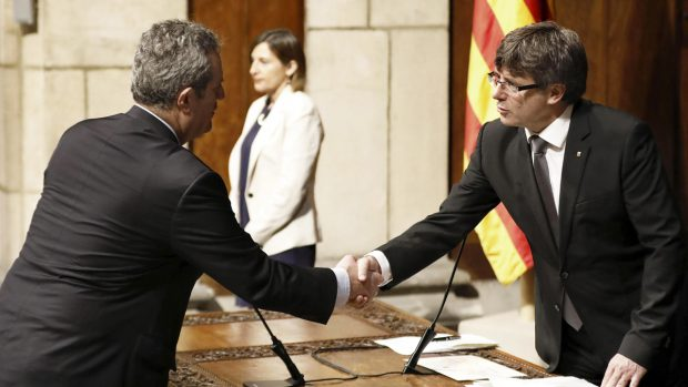 Joaquim Forn y Carles Puigdemont