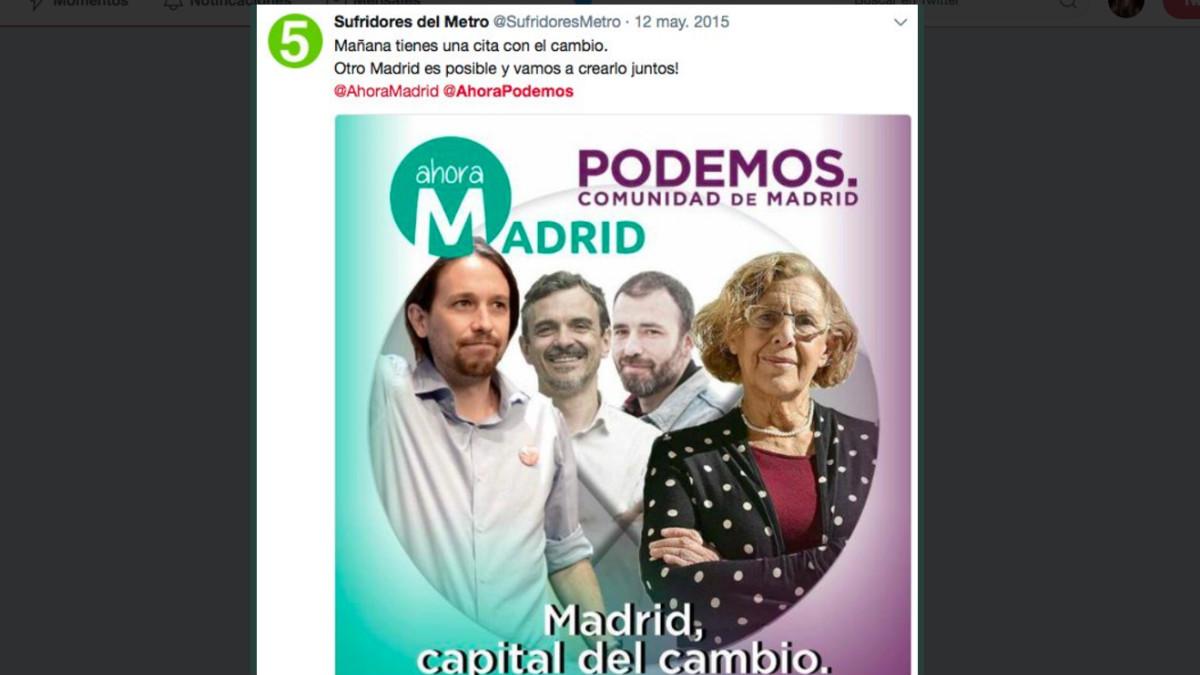 Tuit contra Cristina Cifuentes
