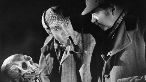 Basil Rathbone como Sherlock Holmes.