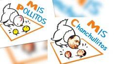 Logotipo modificado de la empresa Mis Pollitos difundido por Podemos.