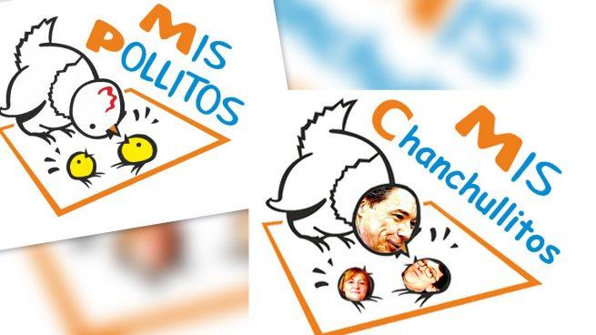 Logotipo de la empresa Mis Pollitos difundido por Podemos.