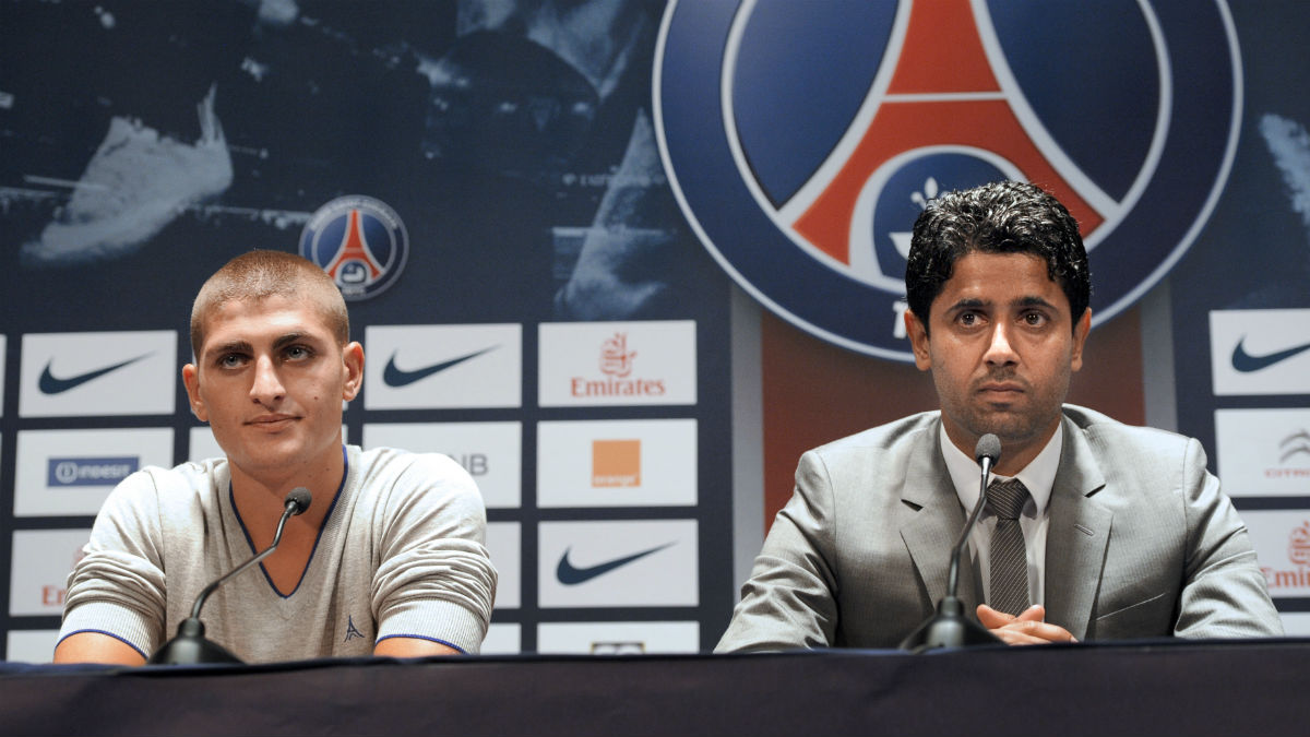 Al Khelaifi junto a Neymar. (AFP)
