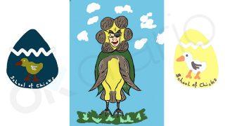 Tres diseños del Grupo Empresarial Chickies realizados por Ignacio González.