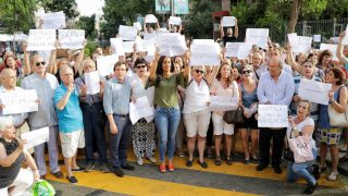 Manifestación calle Galileo