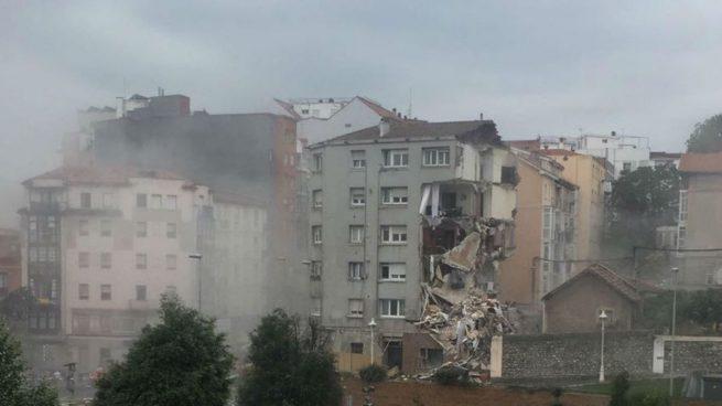 Un edificio se derrumba en Santander